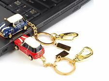 Red 8 GB Mini Cooper 2.0 USB Flash Pen Drive Tarjeta de memoria USB Clave de pulgar rotativo