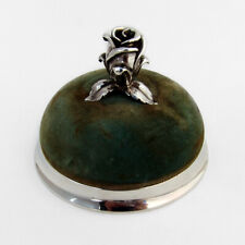 Tiffany Pin Cushion Cast Rose Bud Finial Sterling Silver 1960s
