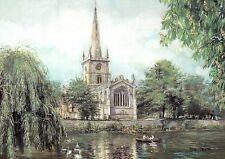Holy Trinity Church Stratford-upon-Avon England Uk Shakespeare Tomb Art Postcard