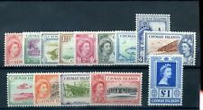 Cayman Islands 1953 defin set less 2s  fine mlh (most to 1s MNH)
