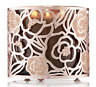 BATH & BODY WORKS GOLD ROSES GLITTER FLOWERS LARGE 3 WICK CANDLE HOLDER 14.5OZ