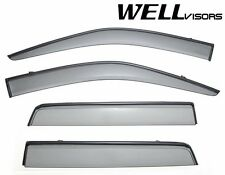 For 07-15 Land Rover WellVisors LR2 Side Window Visors W/ Black Trim