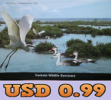 1 X SRI LANKA USED PICTURE POST CARD - WORLD WETLANDS DAY 2016 - SRI LANKA
