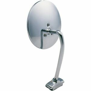 """5"""" Chrome Round Mirror & Arm for 1946-67 Willys Station Wagon and Truck"""