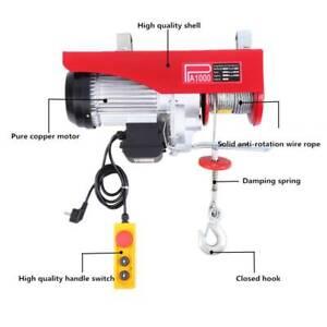 500/1000kg 220V Scaffolding Winch Electric Workshop Garage Gantry Hoist Lifting