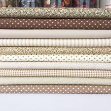10 Piece Beige basic SMALL PIECE fabric bundle 25cm x 25cm 100% cotton