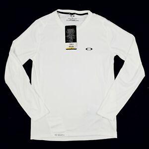 New Oakley White Hydrolix Base LS Men's Small Long Sleeve Shirt