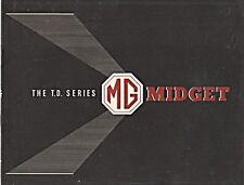 MG Midget TD SERIE DUE colore showroom BROCHURE ORIGINALE datato aprile 1950