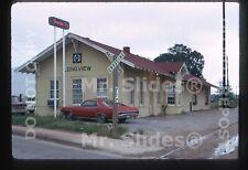 Original Slide ATSF Santa Fe Longview TX Station In 1973