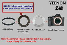 M42-M42X12mm Helicoid tube + M42-NEX Mount (Flange)( ring free)