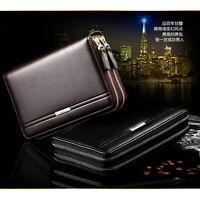 Men's Leather Business Clutch Bag Handbag Wallet Purse Mobile Phone Bag New