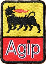 Patch Iron on Agip Motor Oil Gasoline Racing T shirt Hoodie Cap Hat Sign Badge