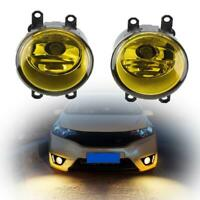 A pair Yellow Fog Light w/H11 Halogen LED Bulb For Toyota Camry Corolla 06-13
