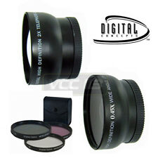 Wide Angle + Telephoto Lens Set + Filter kit for CANON OES T3I 1100D T3 T2I T2