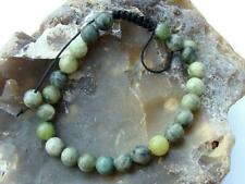 Natural Gemstone Shamballa bracelet all 8mm Green Jade TAIWAN beads 7.5inch