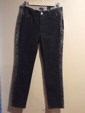 NWT NYDJ Not Your Daughters Jeans 'Sheri' Tuxedo Stripe Coated Skinny Jeans 6p
