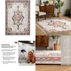 Miley Machine Washable Traditional Medallion Rust 4 Ft. X 6 Ft. Indoor Area Rug