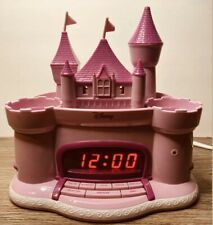 Disney Princess Storytelling Pink Castle Radio Am/Fm Alarm Clock Ceiling Light