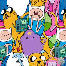 Adventure Time Character Finn Jake Quilt Cotton Fabric By the Yard