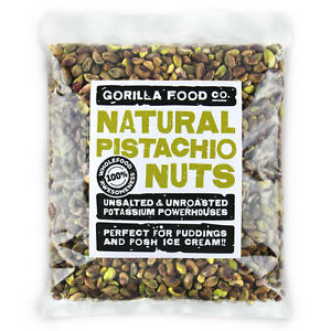 Gorilla Food Co. Pistachio Nuts Raw Kernels - 200g-3.2kg (Great value £ per 1kg)