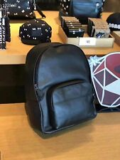 New Authentic Men's Coach F49313 Houston Backpack Shoulder Bag Black Leather