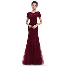 Mesh Short Sleeve Formal Maxi Dresses for Women