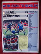 Hull Kr 26 Warrington Wolves 18 - 2015 Challenge Cup semi-final - souvenir print