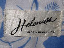 VINTAGE HELENA'S OF HAWAII MEN'S HAWAIIAN SHIRT SKY BLUE COTTON M L