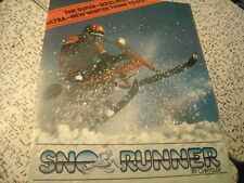 1980 Vintage CHRYSLER Sno Runner Snowmobile Brochure