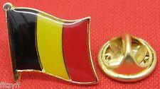 Belgium Belgian Country Flag Lapel Hat Cap Tie Pin Badge Brooch #1