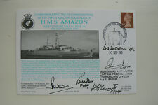 HOCKADAY COVER SERIES 1 No 22 HMS AMAZON - SIGNED BY 5