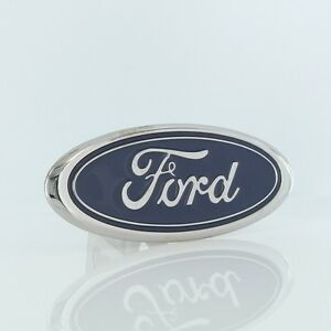 Ford Class II Blue Logo Chrome Trailer Hitch Plug