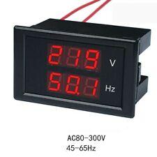 Digital AC voltmeter frequency teste meter LED meter 110V 220V car generator
