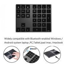 Wireless Bluetooth 34 Keys Numeric Keypad Number Pad Keyboard For Apple Mac-book
