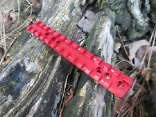 """NEW Ruger 10/22 reversable extended PICATINNY SCOPE RAIL 3/8"""" height in RED"""
