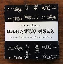 "Haunted Gala by the Comstocks for Moda  - fabric Charm Pack - 5"" squares"