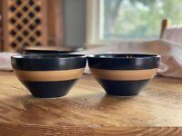 4 Pfaltzgraff CONCENTRIC BLACK Soup Cereal Bowl 8180999