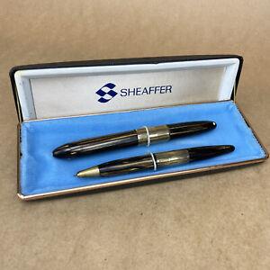 Sheaffer Fountain Pen W/ 14k Nib & Pencil Set