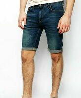 "Men`s New Banana Republic Denim Shorts Waist 31"" to 36"" Dark Blue"