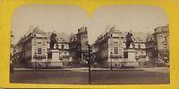 Place Da Victoires Parigi Stereo Vintage Albumina Ca 1870