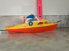 Vintage Plastic Toy Cabin Cruiser Boat