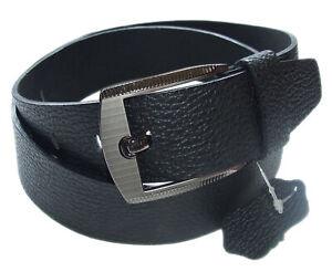 QHA Mens Grain Leather Belt Casual Fashion Design Jeans Waist Buckle Gift Q52025