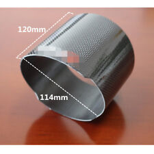 "Car Exhaust Carbon Fiber Accessories 4.5"" Muffler Pipe Cover Sleeve Gloss Black"