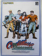 POSTER CADILLAC AND DINOSAURS FLYER RECREATIVA DIN-A 3 DIN A3 CAPCOM CPS2