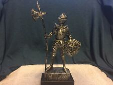 "Vintage 1970's 10"" Medieval Knight Figure Plastic Hong Kong Toy"