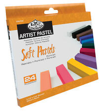 24 ARTIST SOFT SQUARE PORTRAIT PASTELS PIGMENT COLOURS INC FLESH TONES CPA-P24