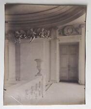 PHOTO VINTAGE : EUGENE ATGET 1910 MAISONS LAFFITTE CHATEAU - CHERUBINS albumine