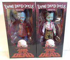 MEZCO Living Dead Dolls Dawn of the Dead Flyboy & Plaid Shirt Zombie Set MIB!!!
