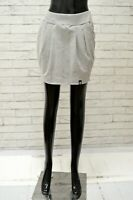 Gonna CONVERSE Donna Taglia Size S Pants Skirt Shorts Woman Cotone Grigio Corto