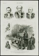 1889 Antiguo Print-LONDRES ALCALDE sheriff the tribunales extorsión cargo (254)